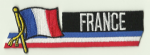 France Embroidered Flag Patch, style 01.
